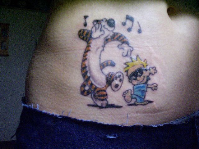 Calvin and Hobbes tattoo