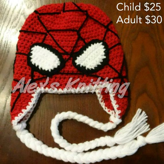 Who doesnt love the amazing wall climbing Spidey?! Get your very own Spider-Man inspired beanie today! This beanie is available in all sizes
