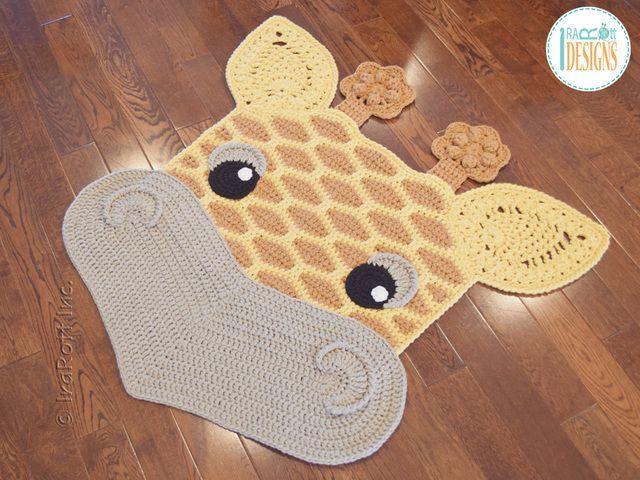 Crochet pattern PDF by IraRott for making an adorable giraffe rug or ...