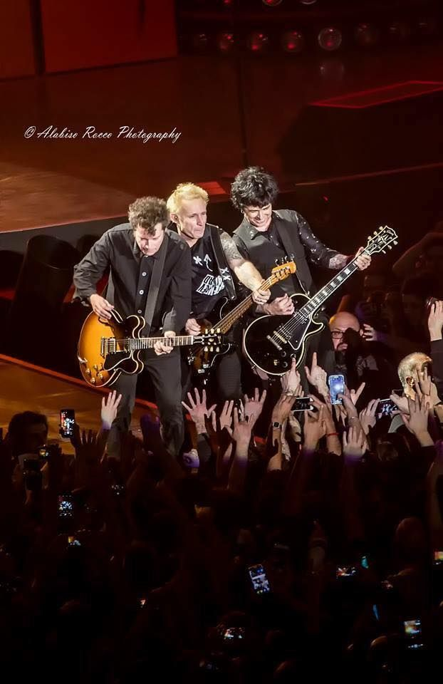 Jason White, Mike Dirnt & Billie Joe Armstrong from Green Day