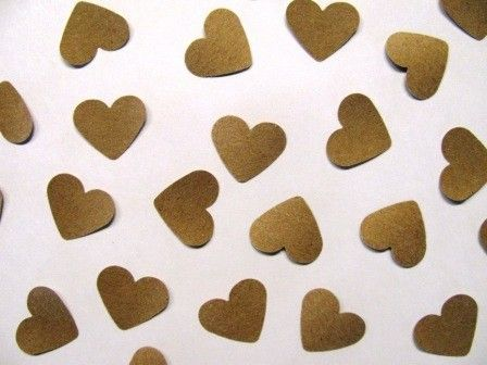rustic kraft paper heart confetti for flower girl - LOVE! We didn't want the tradition flower petals thrown, and this is perfect!