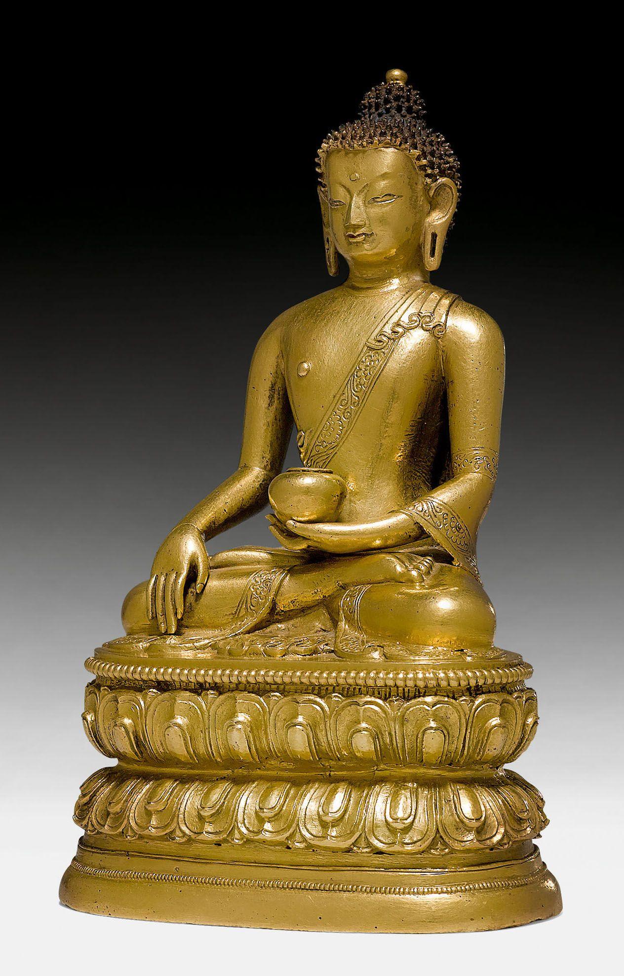 BUDDHA SHAKYAMUNI Mongolei 18 Jh H 16 cm