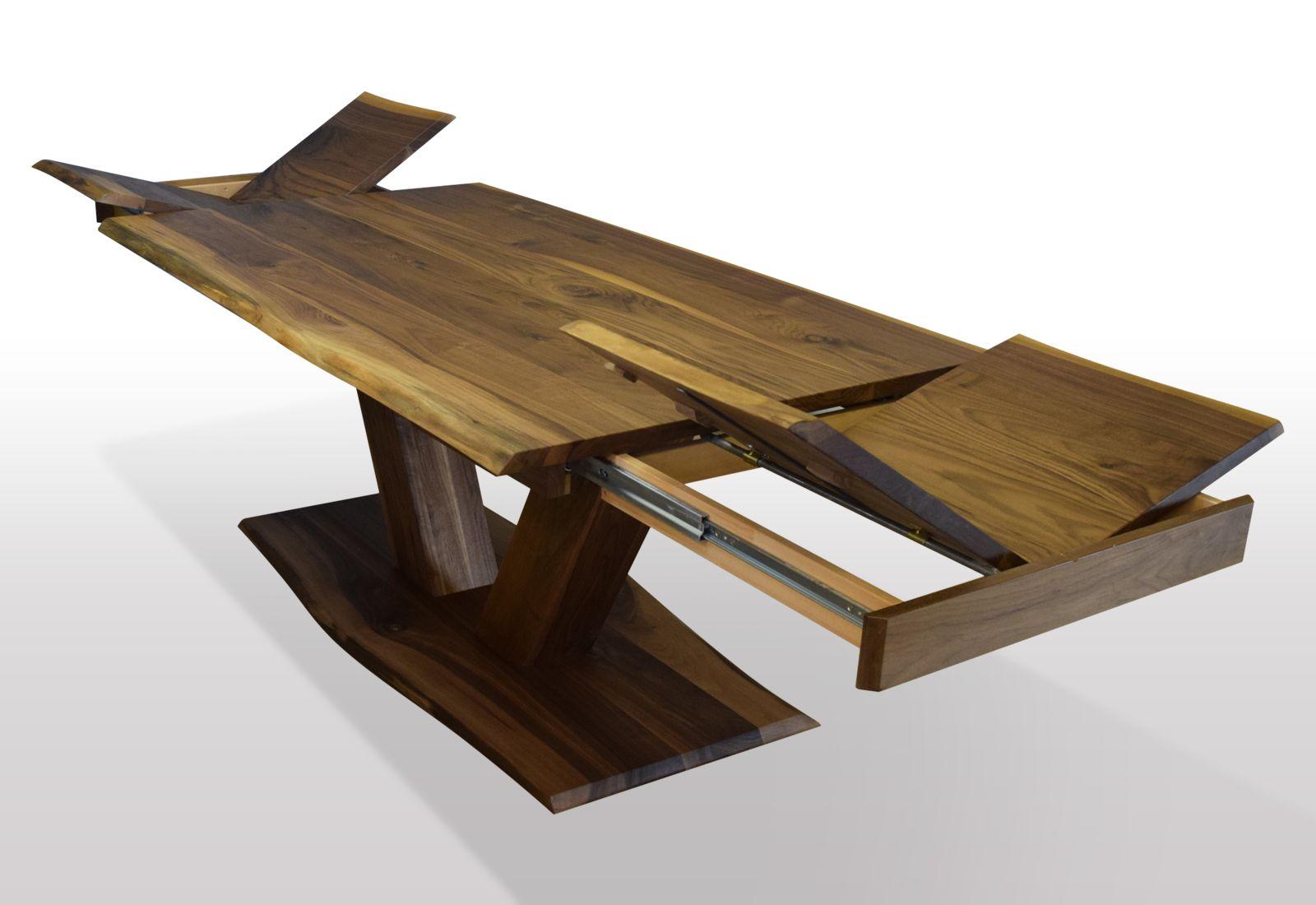 Tisch Mit Baumkante Nussbaum Breite 80cm Lange Wahlbar