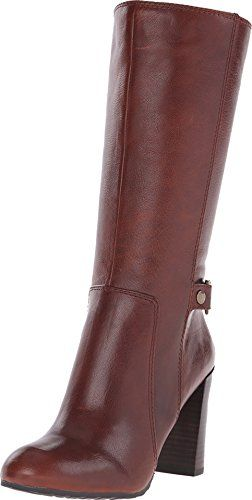 Leather · Nine West Women's Sebastien Dark Natural Leather Zar Boot ...