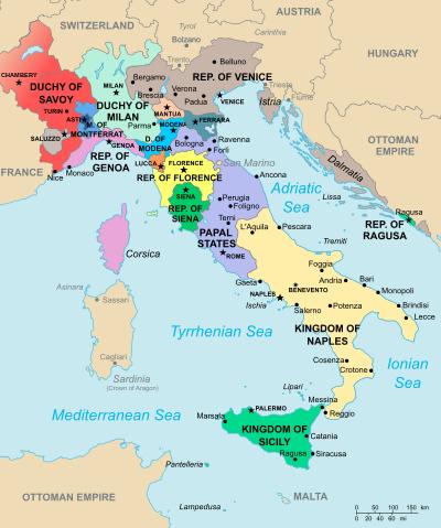 Italy in 1494 European history
