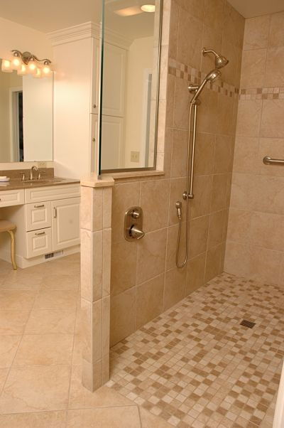 Universal Design Features For Any Bathroom Walk In Shower - Slip resistant bathroom floor tiles for bathroom decor ideas