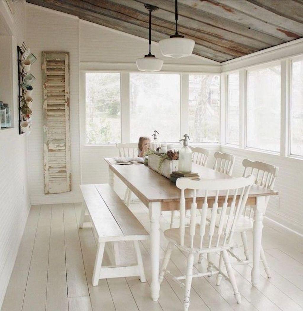 50 Cozy Farmhouse Sunroom Decor Ideas images