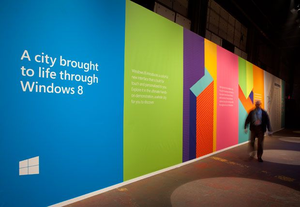 D Exhibition : The perspective of paula schers brand identity for windows