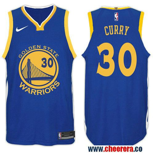 fd6b032f3d9 Nike NBA Golden State Warriors #30 Stephen Curry Jersey 2017-18 New Season  Blue Jersey