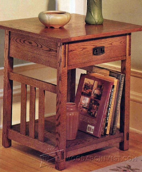 Arts & Crafts End Table Furniture Plans and Projects