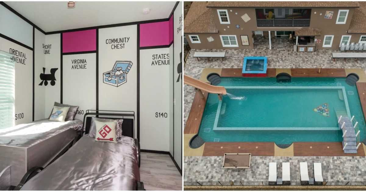 You Can Rent A Board GameThemed Airbnb With A Lazy River