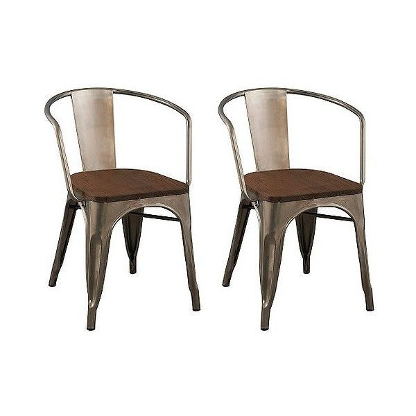 dining chair carlisle wood seat dining chair natural metal