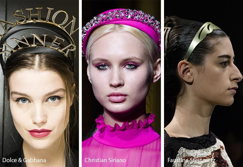Fall Winter 2018 2019 Hair Accessory Trends Headbands Hair