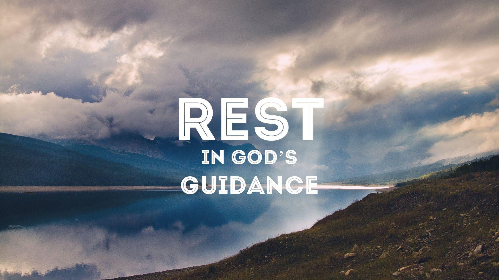 Meditation Girl Wallpaper Rest In God S Guidance Peter Tan Chi Christianity 101