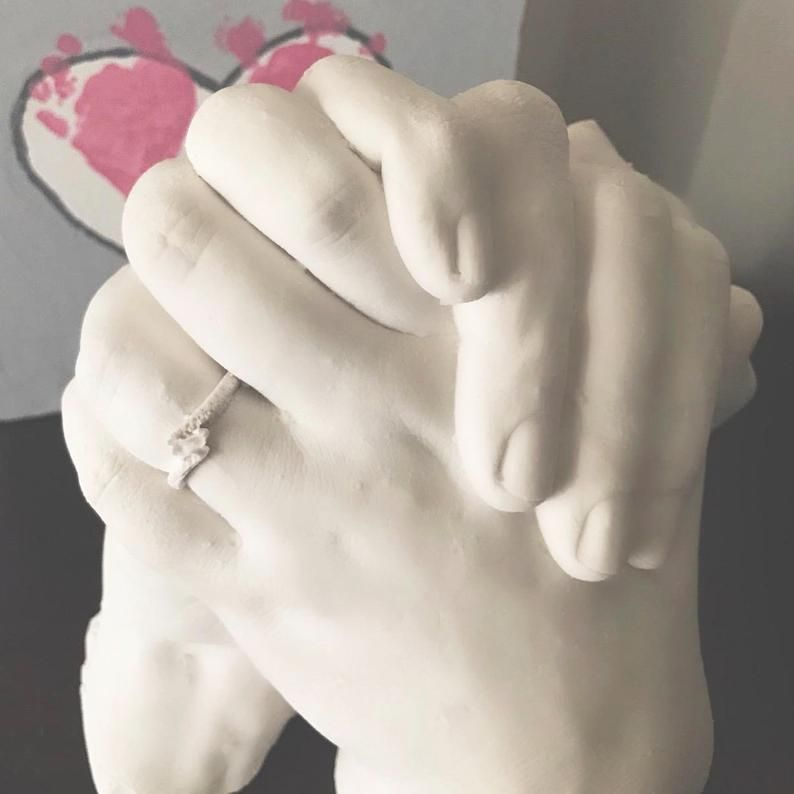 CASTING KIT Large Plaster Statue Hand Cast Family Luna Bean KEEPSAKE HANDS XL