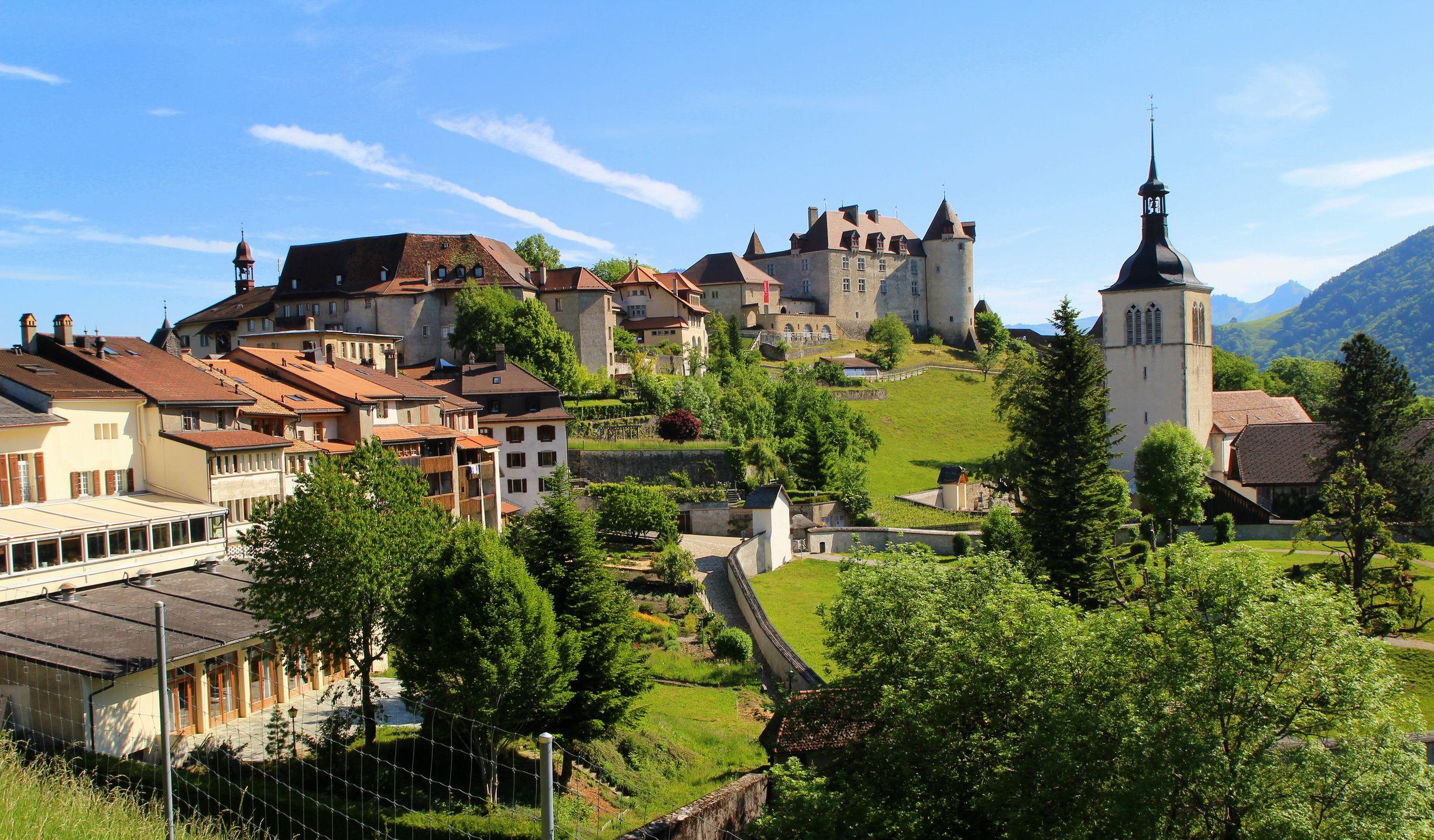 Switzerland Houses Fribourg Gruyere Cities   Swiss ...