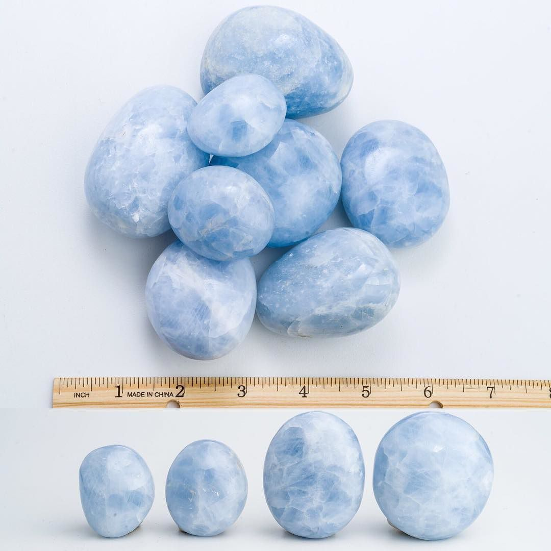 Huge tumbled Blue Calcite! It's a very calming and soothing stone. It is an energy amplifier specifically with communication and thought paths. It is also known to be a good stone for students or those learning lessons by helping retain such information. These guys are just $12/each! TEXT 267.603.1436 or DM to buy. by crystaltherapyshoppe