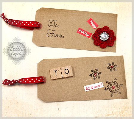 If you make your own gift tags, I can't even deal with that....