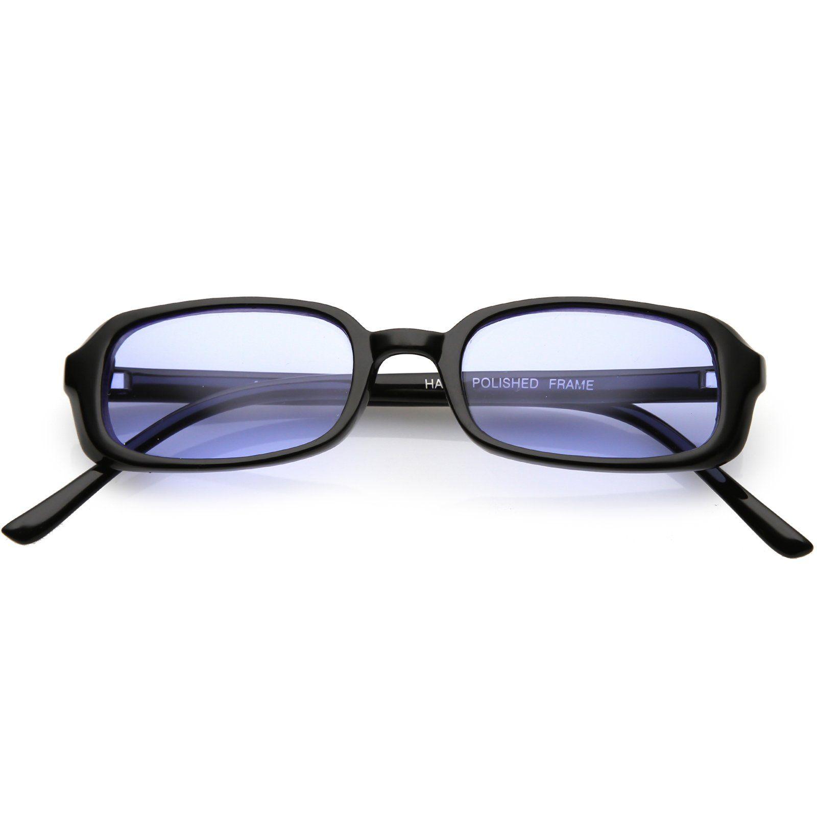 74ac314b3 True Vintage Small Frame Rectangle Sunglasses Color Tinted Lens 46mm # sunglass #sunglasses #frame #clear #purple #bold #summer #oversized  #sunglassla # ...