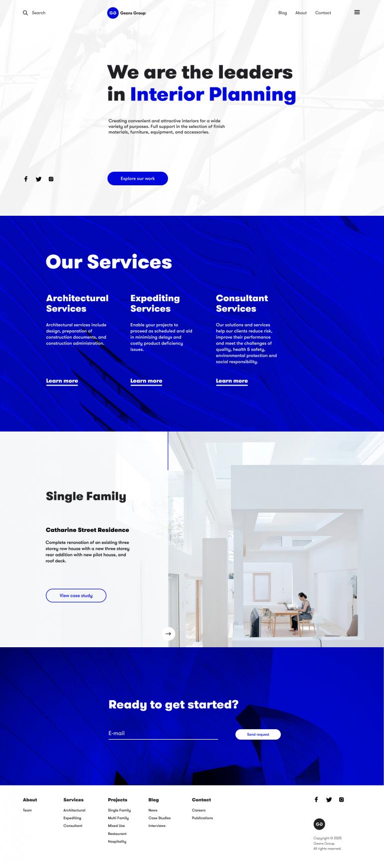Construction Company Website Simple Web Design Website Design Company Homepage Design