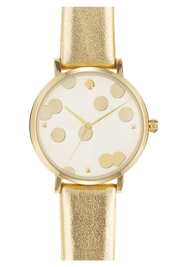 So many great things about this watch: Kate Spade, gold, polka dots, leather...