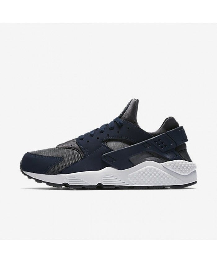 7049ef09a3e3 Nike Air Huarache Dark Grey Metallic Silver White Midnight Navy 318429-038