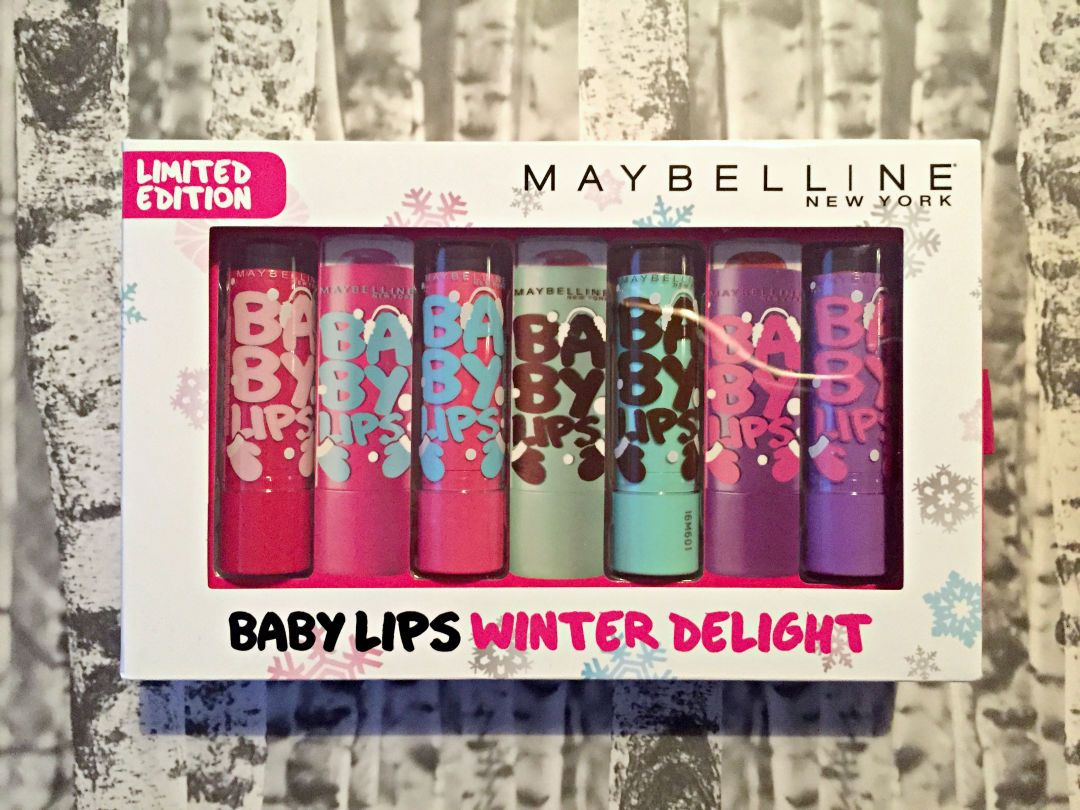 Culia font being used in Baby Lips Winter Delight Set by Maybelline New York
