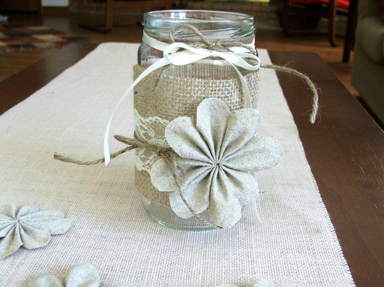 Pinterest mason jar centerpieces rustic decoration burlap