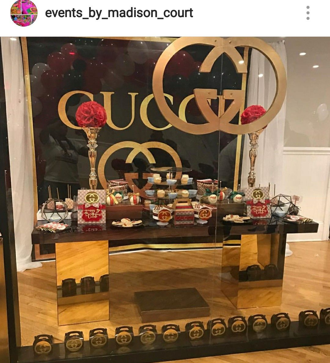 Gucci Theme Birthday Party Dessert Table And Decor