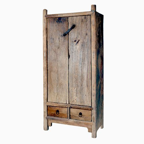 Reclaimed Wood Armoire With Hand Forged Hardware   Rustic Wood Furniture    Blowing Rock NC