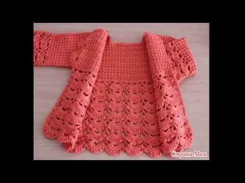 Crochet is simple and easy jacket for girls step by step - YouTube ...