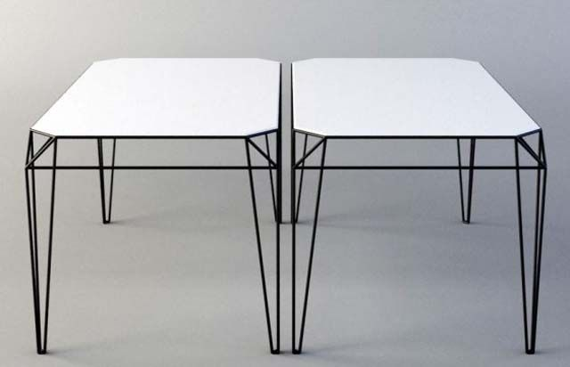 Wireframe Table Furniture Product wire Pinterest