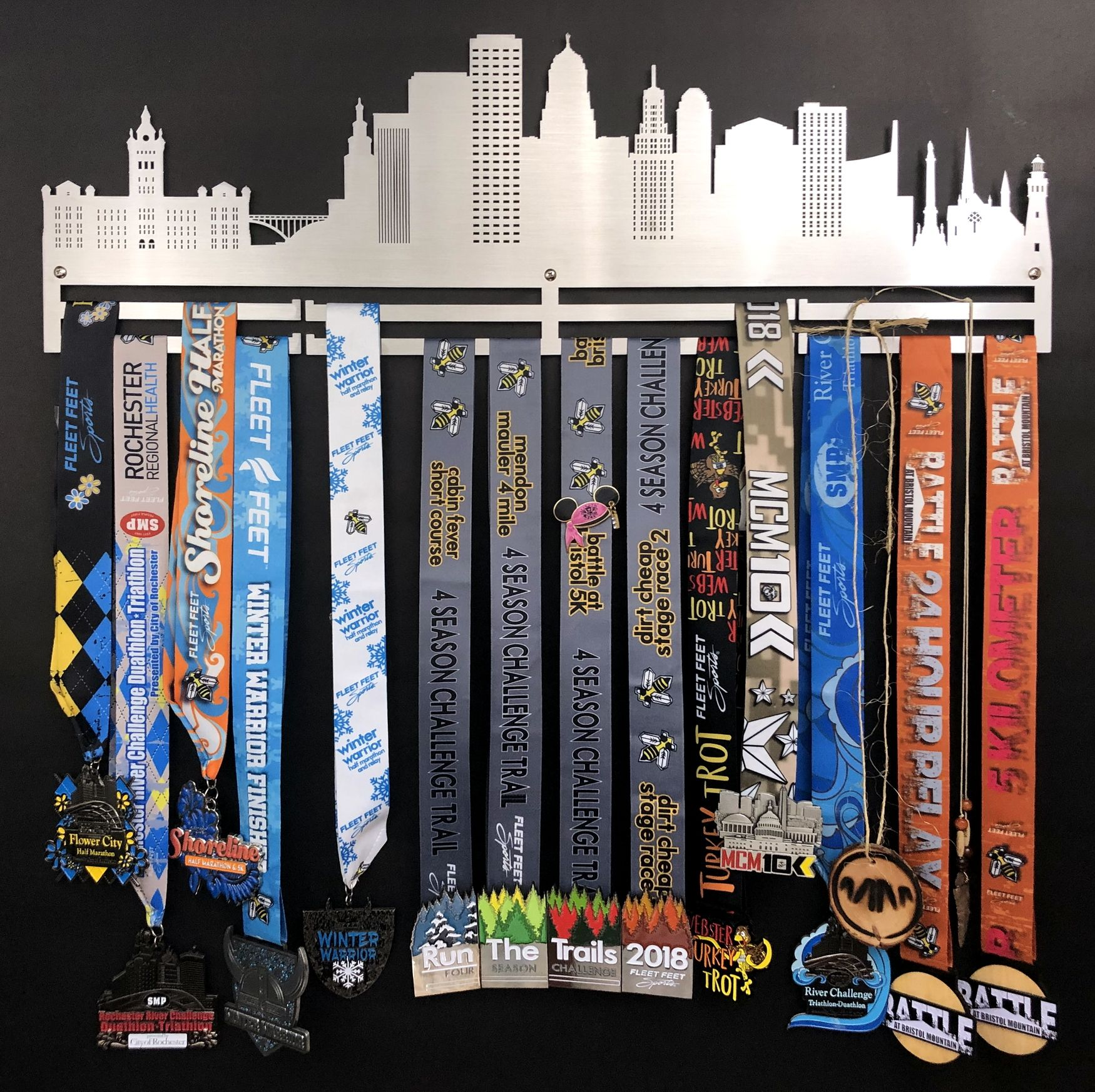 Buffalo Skyline Stainless Steel Medal Holder For Running Medals Gymnastics Medals Swimming Medals And More