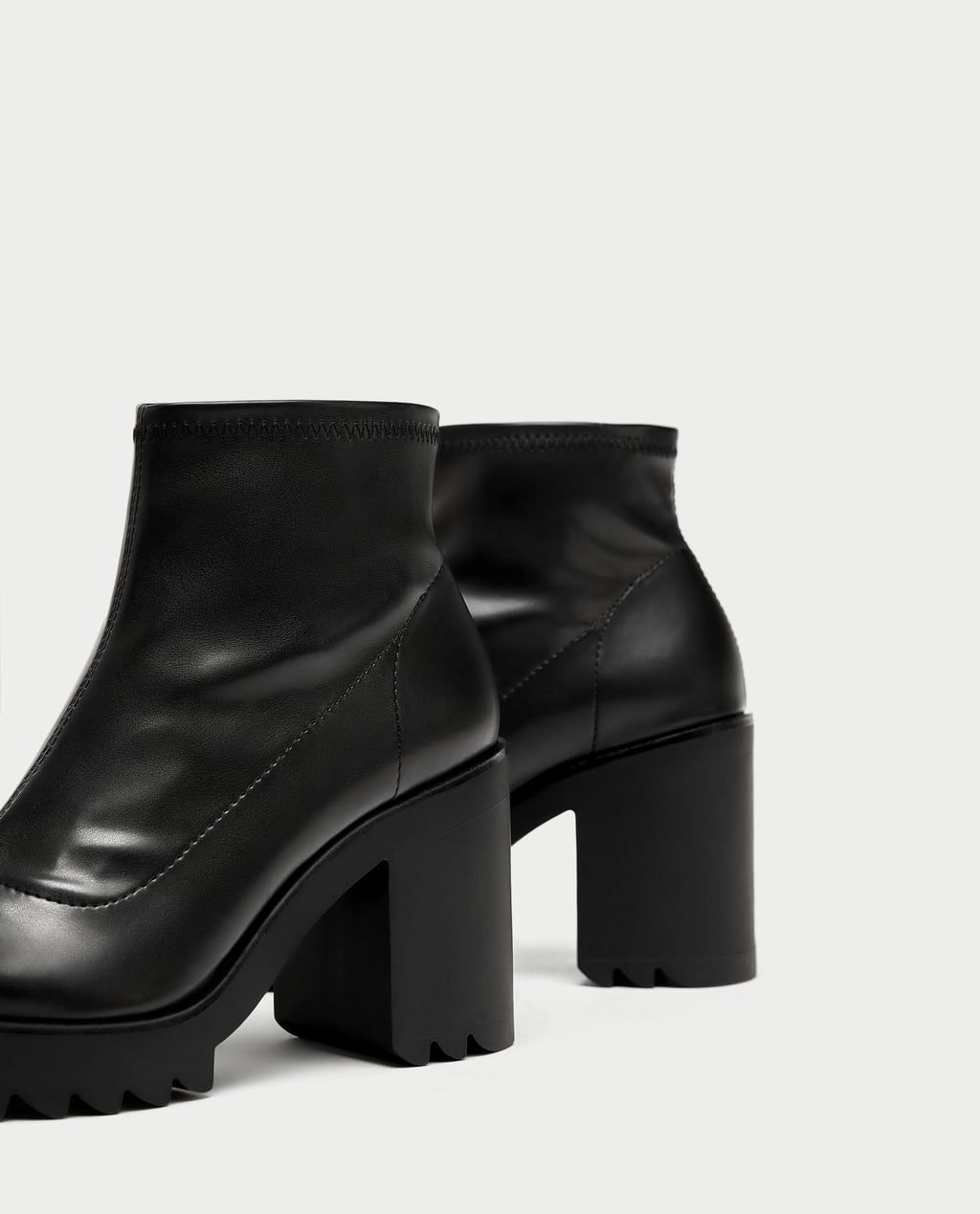893e431d SOCK-STYLE ANKLE BOOTS WITH TRACK SOLE-Ankle Boots-SHOES-WOMAN | ZARA  United Kingdom