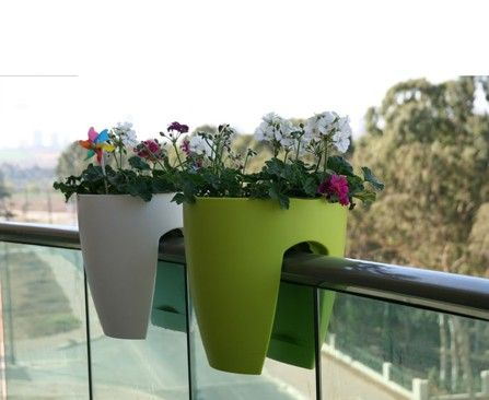Inspirational Over the Balcony Planters