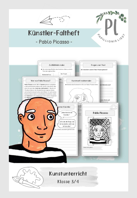 Kunstler Faltheft Pablo Picasso Unterrichtsmaterial Im Fach Kunst Pablo Picasso Picasso Kunstler Grundschule
