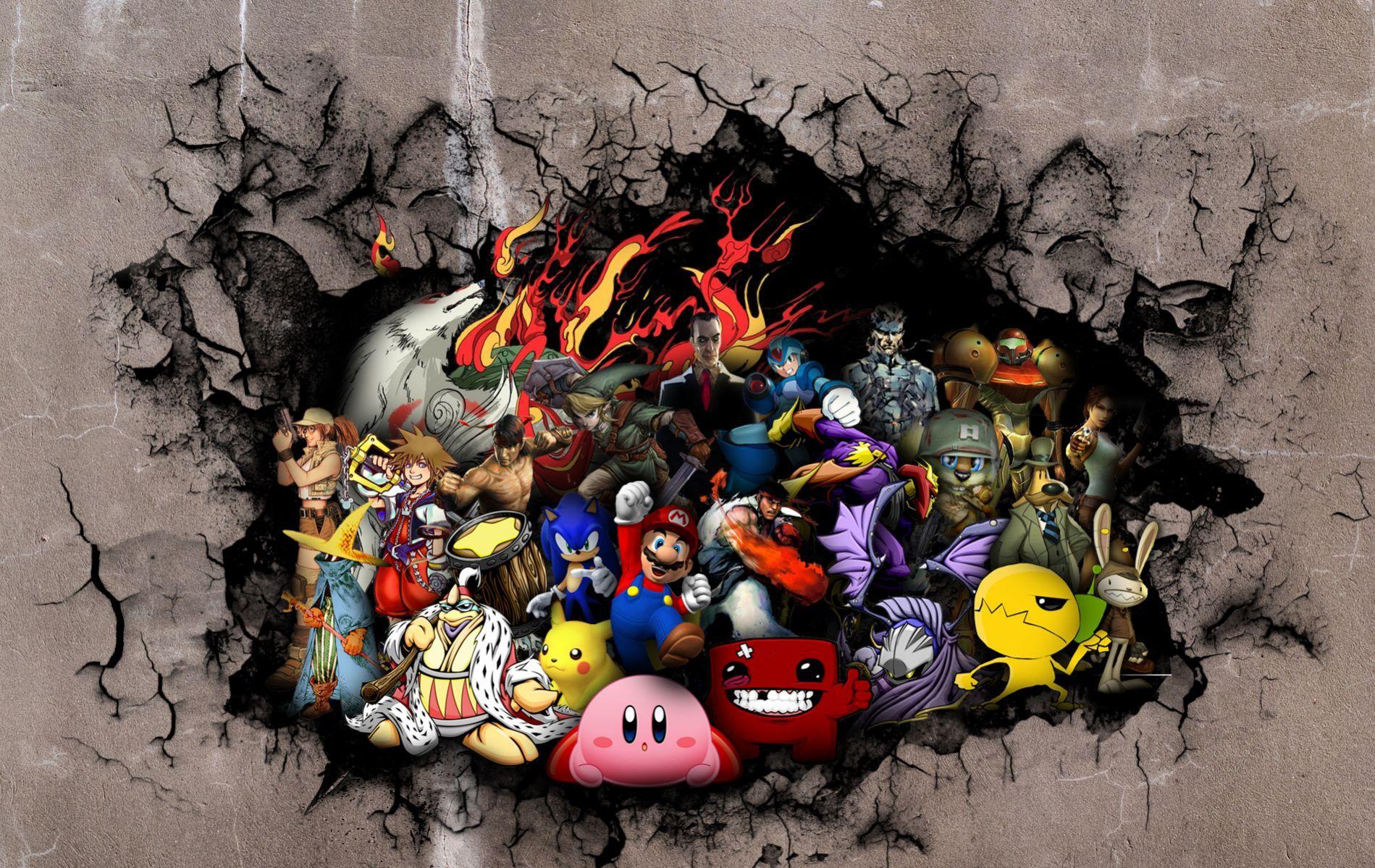 video game collage wallpaper dromhib.top Wallpaper