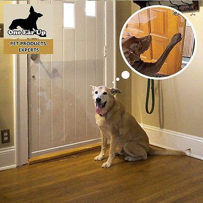 Cardinal Crystal Clear Plastic Door Scratch Protector Pet Dog Cat