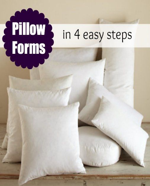How to Make a Pillow Form | Costura, Almacenamiento y Aritos