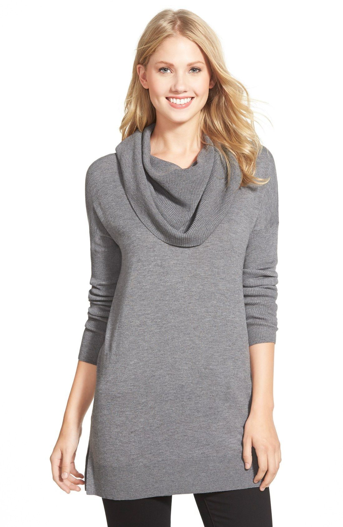Side Slit Cowl Neck Tunic | Cowl neck, Tunics and Cold weather
