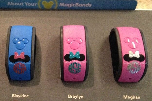 Glitter Magic Band Mickey Or Minnie Mouse Personalized Monogram - Magic band vinyl decals