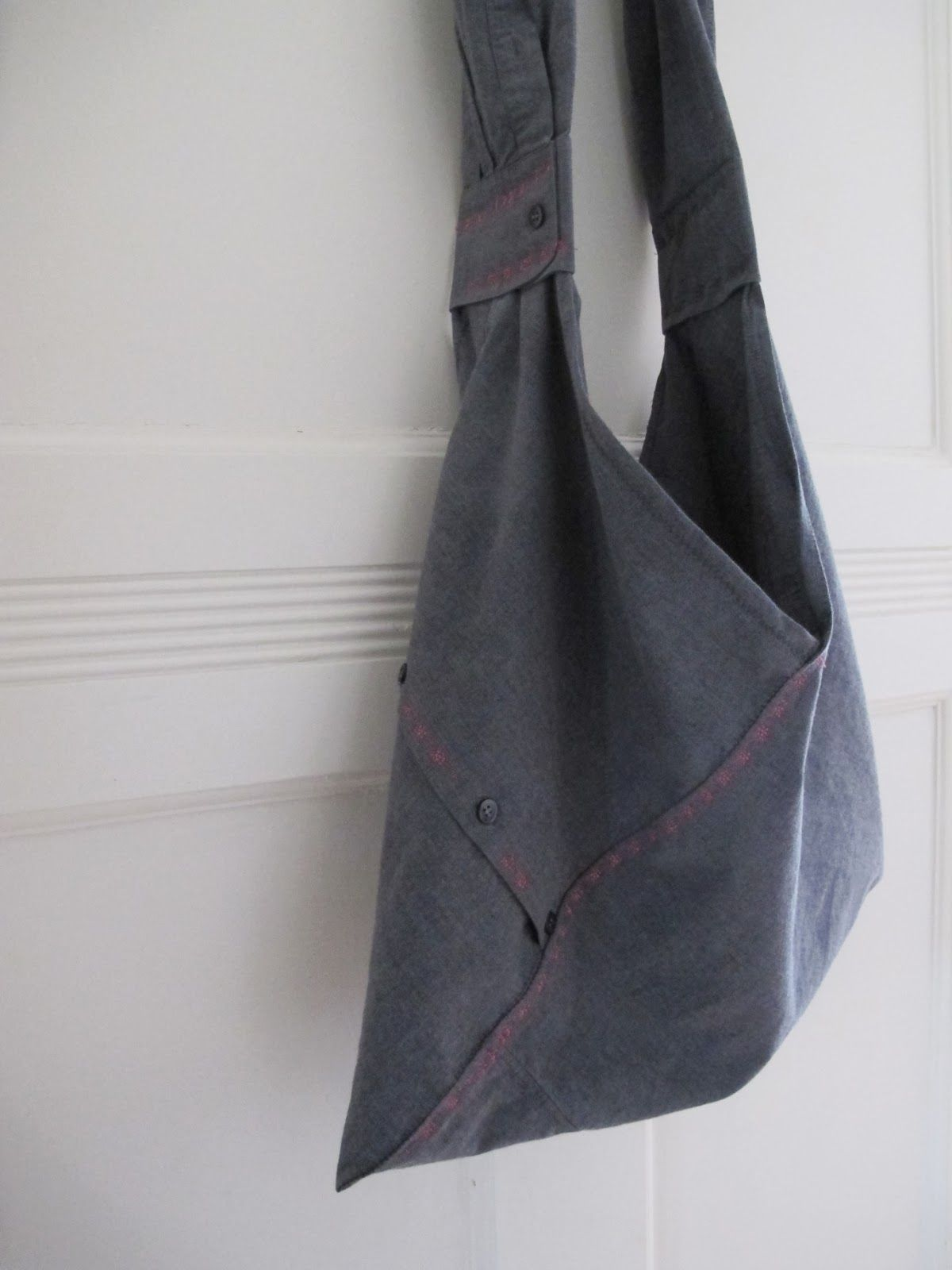 origami tasche aus herrenhemd origami bag made of old shirt upcycling sew gorgeous. Black Bedroom Furniture Sets. Home Design Ideas