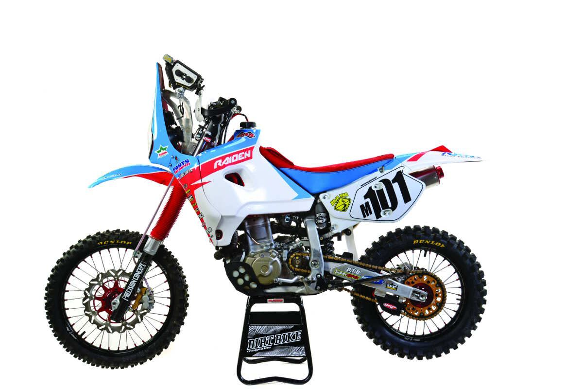 honda xr650 rally bike. - dirt rider magazine. | moto custom