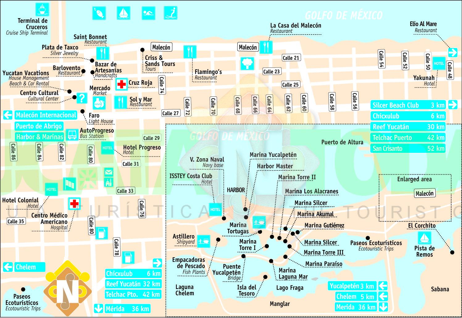 Progreso Yucatan Port Progreso Map Yucatan Today cruise