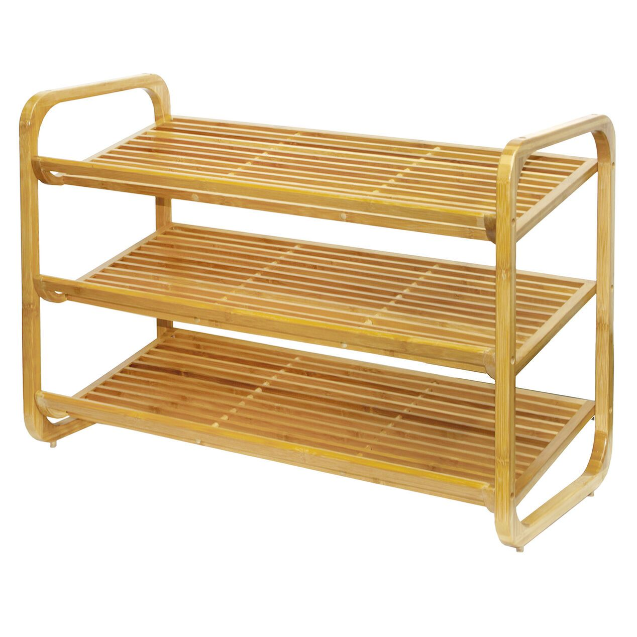 bo ho 3 tier bamboo shoe rack at home
