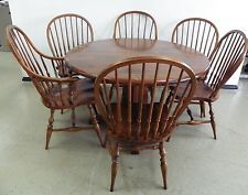 Vintage Kling Colonial Dining Room Table With Pine