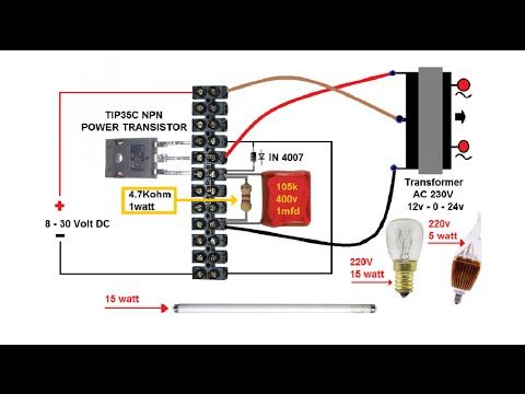 how to make simple dc to ac inverter youtube wilderness