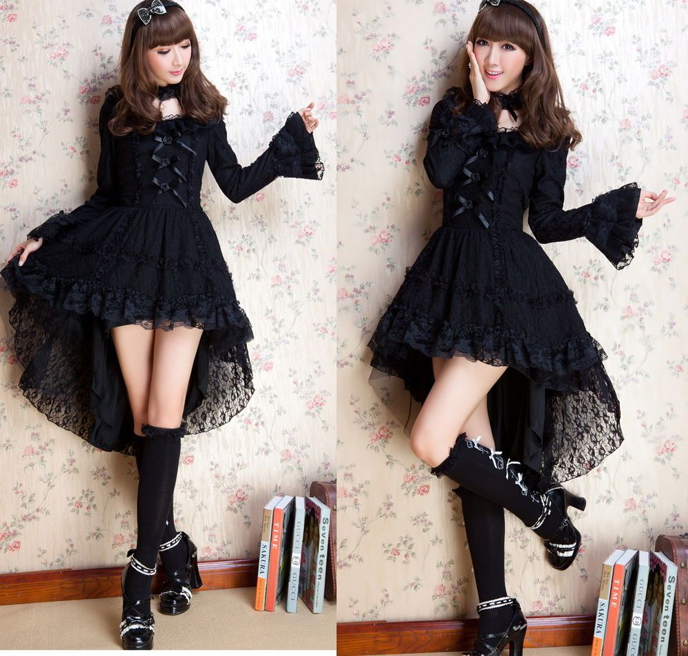 Details about Dolly Kawaii GOTHIC PUNK LOLITA ALICE swallow tail ...