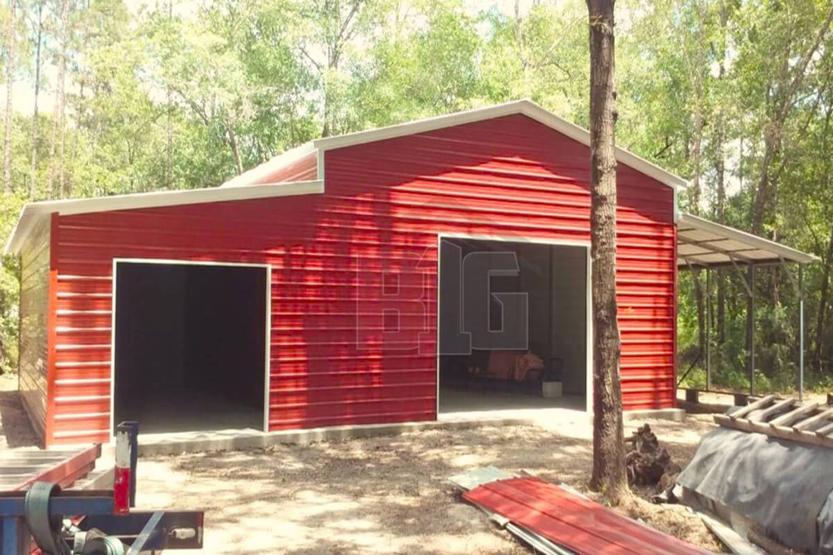 The Dyrdek Barn 44x30x12 8 Big Buildings Direct Garage Door Design Shed Plans Shed
