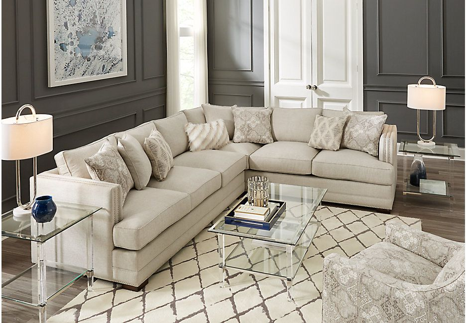 Madelyn Bay Off White 2 Pc Sectional Sectionals Beige Living Room Sectional Sectional Living Room Sets Beige Sectional Living Room #off #white #sofa #living #room